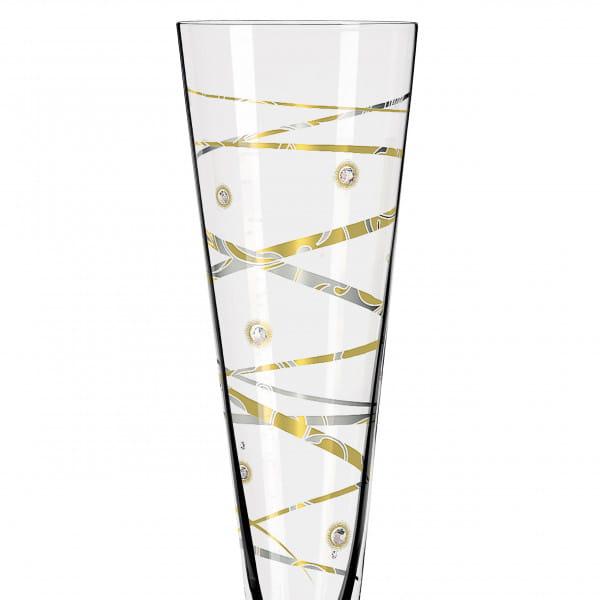 Champus Celebration Glass 2021 with real Swarovski Crystals