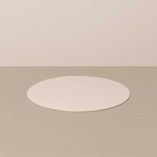 Coaster S, round, in sand / stone