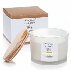 Nature scented candle 3-wick, White Musk