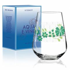 Aqua e Vino water and wine glass by Burkhard Neie