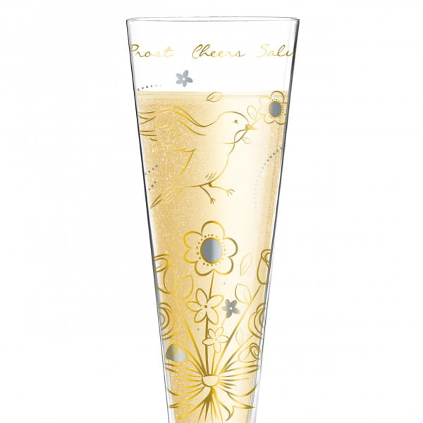 Champus Champagne Glass by Shari Warren