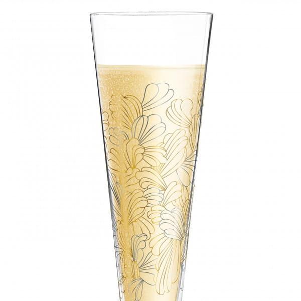 Champus Champagne Glass by Lenka Kühnertová (Blossoms)