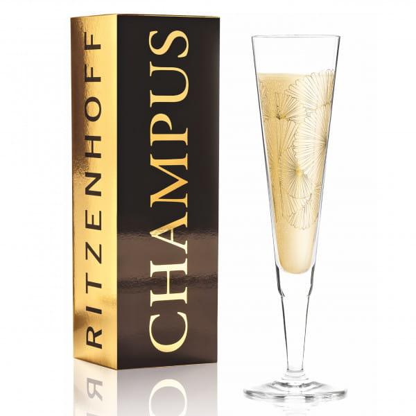 Champus Champagnerglas von Lenka Kühnertová (Golden Fans)