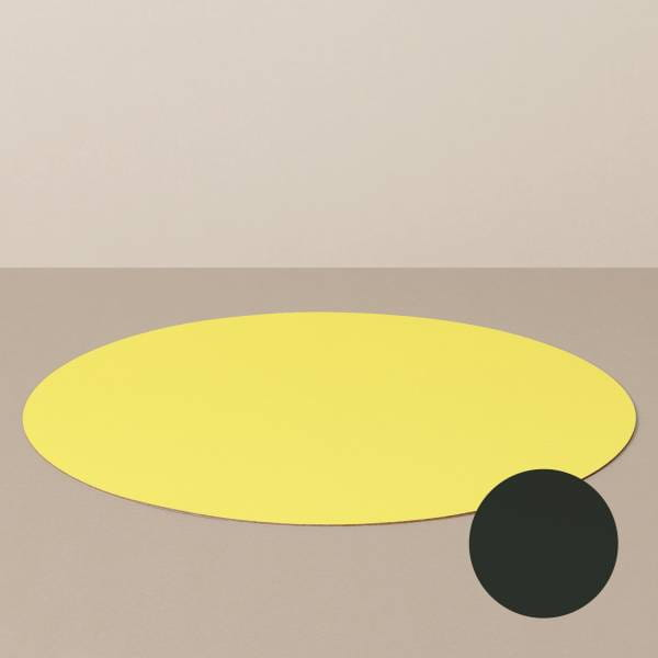 Platzset L, rund, in Schwarz/Gelb