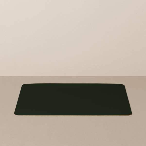 Tabletteinlage/Platzset L, eckig, in Schwarz/Rot