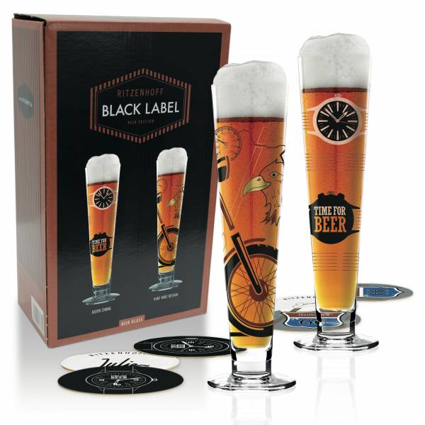 Black Label Bierglas 2er-Set von Julien Chung & Kurz Kurz Design
