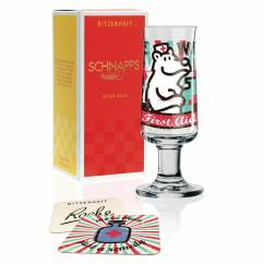 Schnapps shot glass by Stephanie Roehe
