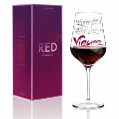 Red wine glass by Annett Wurm