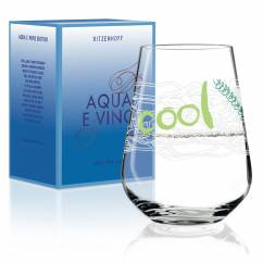 Aqua e Vino water and wine glass from Virginia Romo
